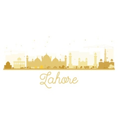Lahore City skyline golden silhouette vector