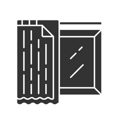 Liner shades glyph icon house and office vector