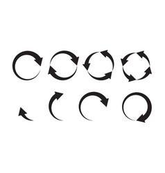 loader icon circle arrows progress bar symbol vector image