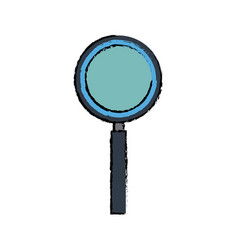 Magnifier search loupe tool zoom find vector