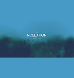 Marine pollution concept polluted water vector