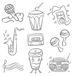 Music doodles hand draw vector