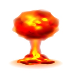 Nuclear explosion isolated on white vector