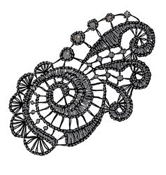 Openwork lace Realistic vector
