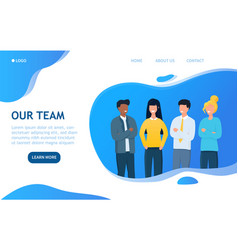 Our team business template with copy space vector