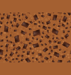 pattern with chocolate seamless textur vector image