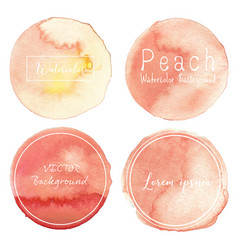 peach watercolor background pastel watercolor vector image