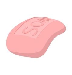 Pink soap cartoon icon vector