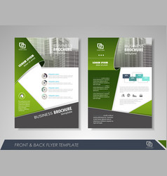 Presentation flyer design vector