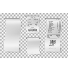 printed sale receipt restaurant bill isolated vector image