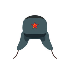 Russian traditional wool hat vector