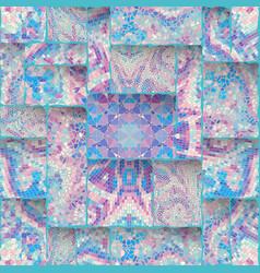 Seamless mosaic art pattern seamless vector