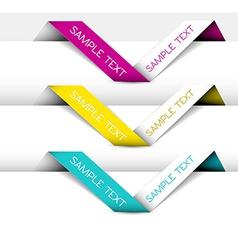 Set of Paper origami ribbon vector image