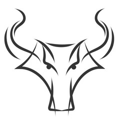simple black and white tattoo sketch of taurus vector image