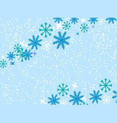 Snowflakes on blue vector