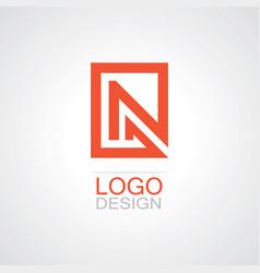 square letter n logo vector image