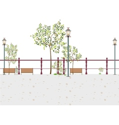 Stylized Park Scene vector image