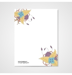 Template letterhead with abstract drawn vector
