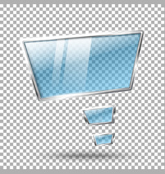 Transparent abstract hi tech glossy glass and vector