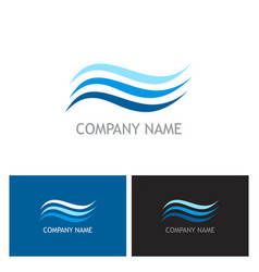 Water wave aqua logo vector