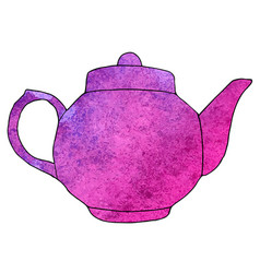 Watercolor hand drawn teapot vector