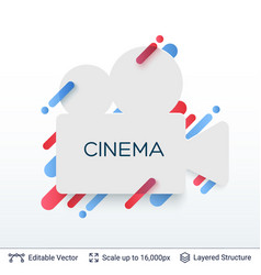 White badge cinema sticker vector