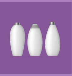 White bottle set vector