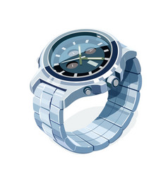wrist mechanical watch vector image
