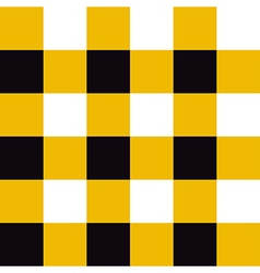 Yellow Black White Chessboard Background vector image