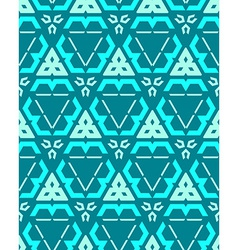 blue green cyan color abstract geometric seamless vector image vector image
