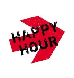 Happy hour stamp vector