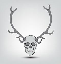 horned human skulls vector image
