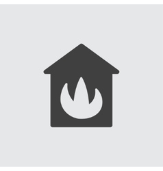House in fire icon vector image