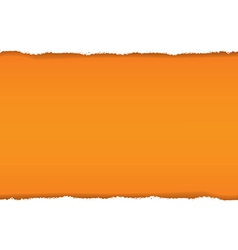 Rip White Paper And Orange Background vector image