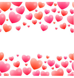 romantic seamless borders vector image