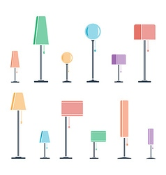 Set of lamps vector image vector image