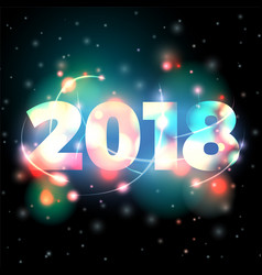2018 new year blurred lights vector image