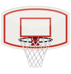 Basketball net and hoop vector image