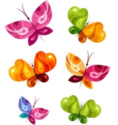 butterfly card vector image vector image