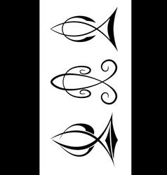 fish symbols vector image