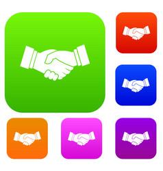 handshake set collection vector image vector image