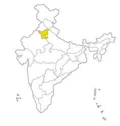 haryana vector image