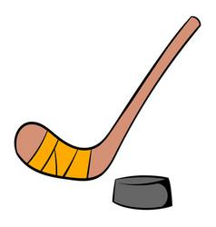 hockey icon cartoon vector image vector image