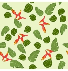 seamless texture of the Malaysian plant vector image vector image