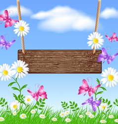 Spring Swing vector image vector image
