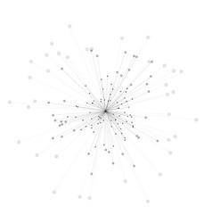 abstract 3d of molecule model vector image vector image
