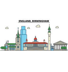 england birmingham city skyline architecture vector image