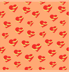 heart hug seamless pattern flat hearts and hands vector image vector image