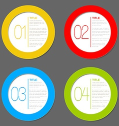One two three four - progress icons vector image
