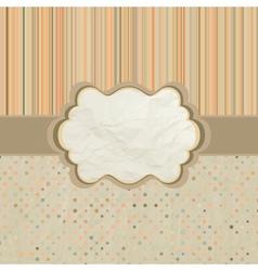 Polka dots pattern card vector image vector image
